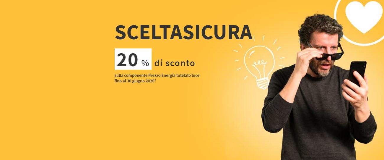 qualità del marchio così economico prezzo imbattibile Eni, offerta contratto luce: Scelta Sicura 20% di sconto ...